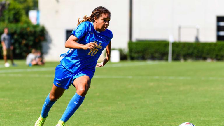 Mia Fishel Scores Twice in Hometown, UCLA Women's Soccer Wins Again