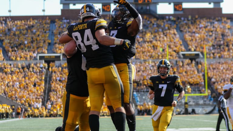 Photo Gallery: No. 5 Iowa Pulls Away from Kent State