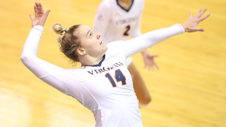 Virginia Volleyball Wins Three Matches in Straight Sets in Weekend Tournament