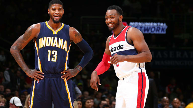 John Wall Spotted in Los Angeles With Paul George