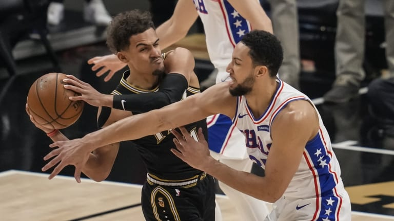 Sixers' Ben Simmons Pairs up With Hawks' Trae Young in Hypothetical Trade