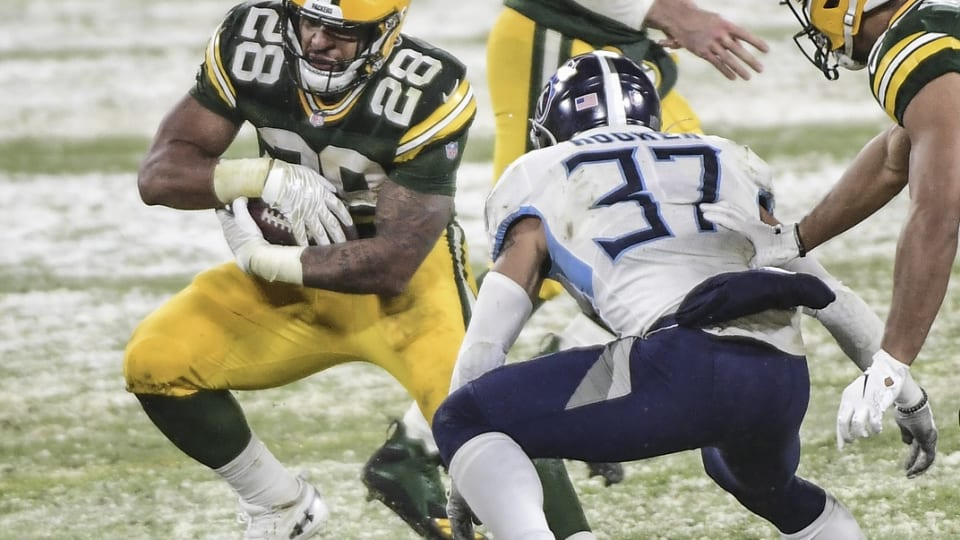 """Packers Coach """"Hopeful"""" AJ Dillon Will Be Available in NFC Championship"""