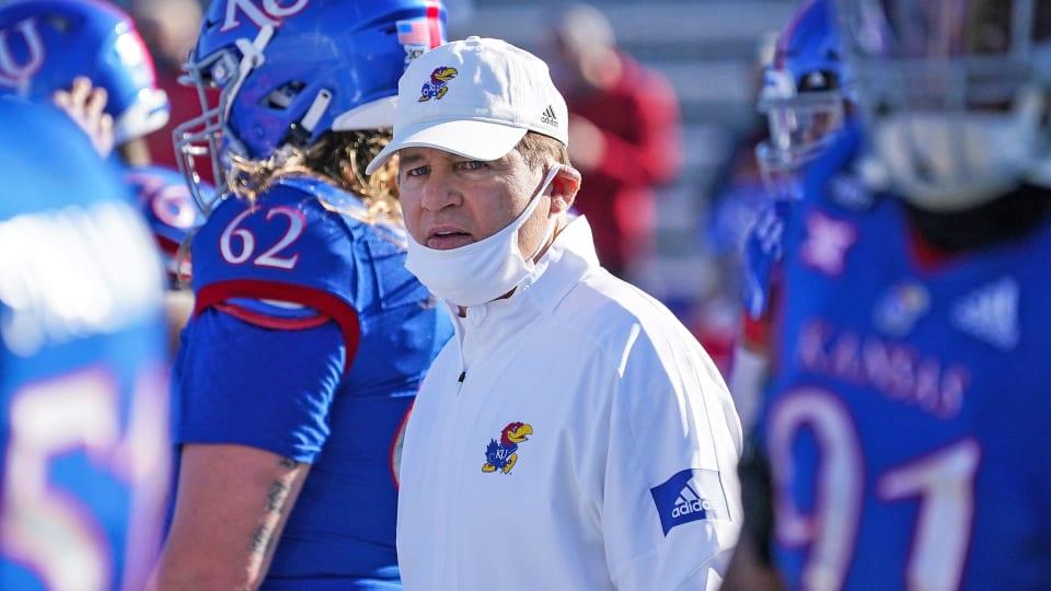Kansas football coach Les Miles