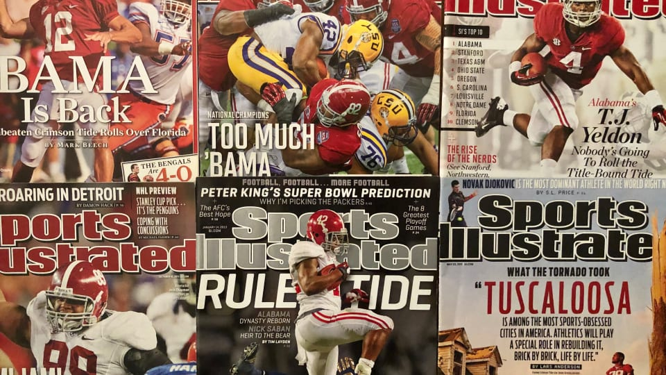The Top 25 Alabama Sports Illustrated Covers