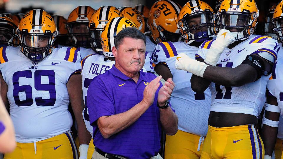 LSU coach Ed Orgeron