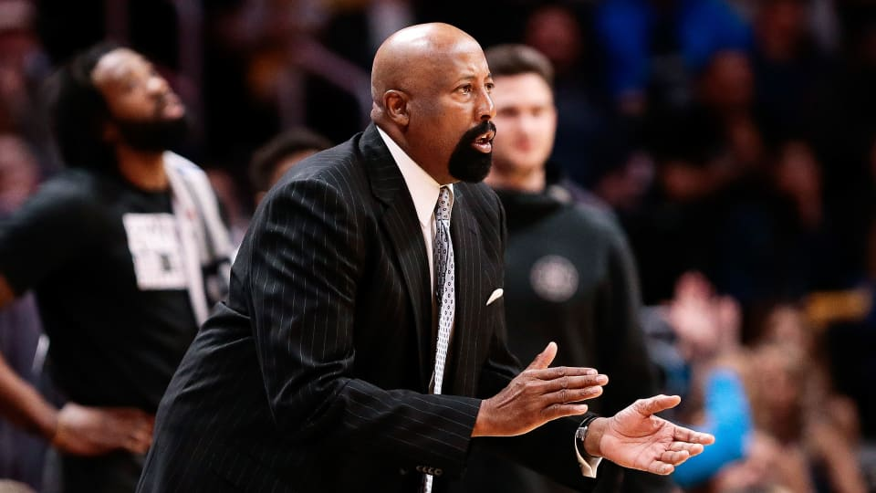 New Indiana coach Mike Woodson while coaching in the NBA