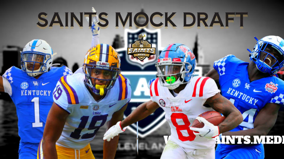 Saints Mock Draft: 2 Trades to Draft 4 SEC Playmakers