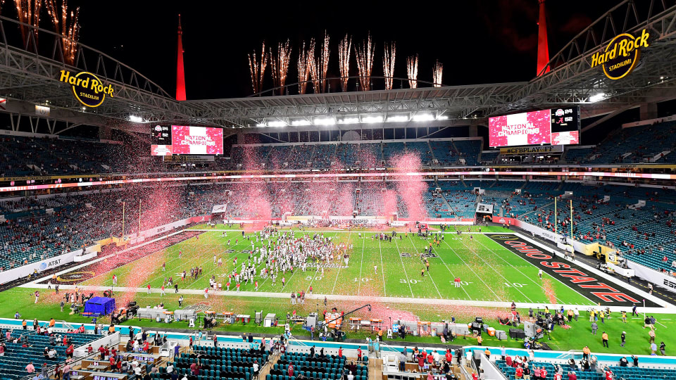 The scene following Alabama's national championship win