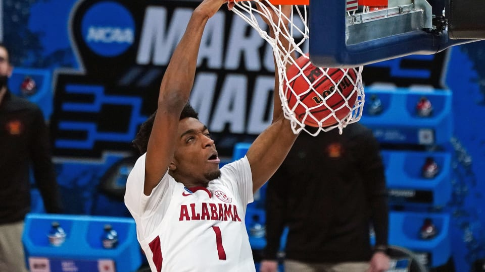 Alabama's Herbert Jones dunks