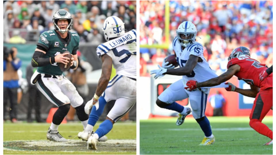 Carson Wentz, Parris Campbell among Fantasy's Likeliest Draft Board Risers