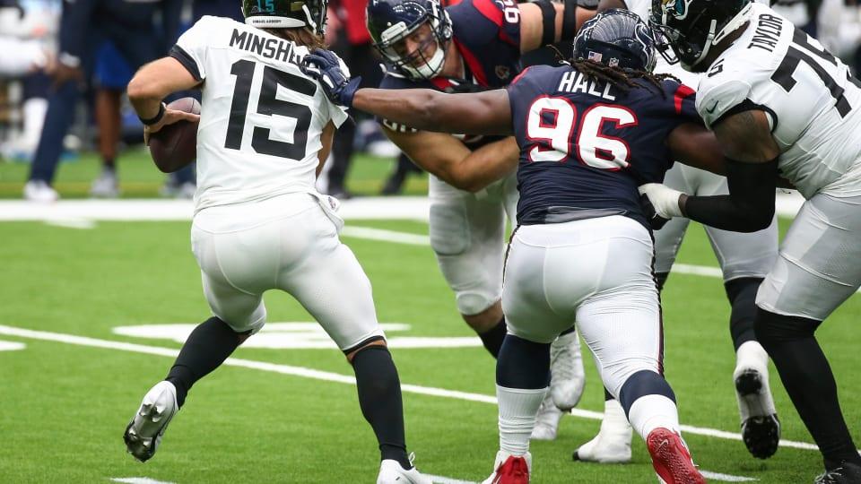 Former Texans DL P.J. Hall Facing Misdemeanor Assault Charge: NFL Tracker