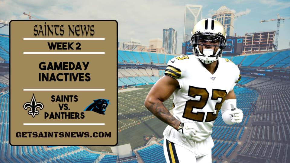 Week 2: Saints Inactives List