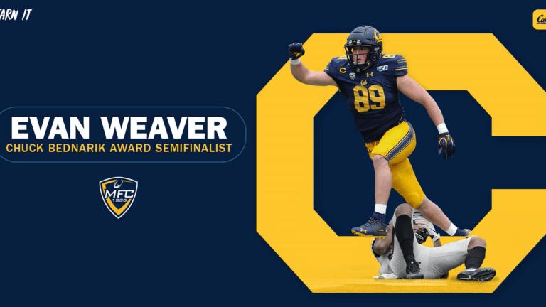Cal Football: Evan Weaver Among 20 Semifinalists for Chuck Bednarik Award