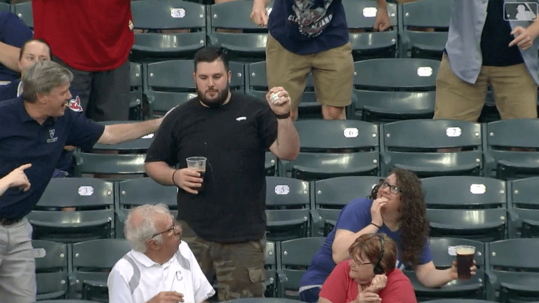 Wednesday's Hot Clicks: Indians Fan Makes Absolutely Perfect Foul Ball Catch
