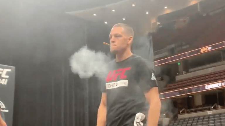 Nate Diaz Shocks Fans When He Appears to Smoke 'Joint' at UFC 241 Open Workout