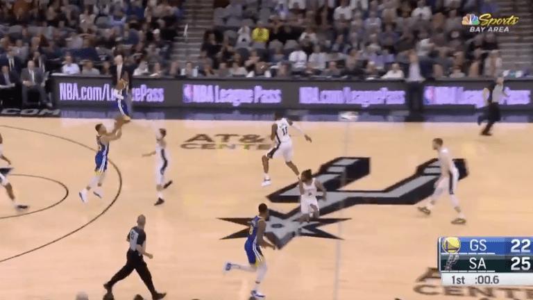 Watch: Stephen Curry Nails Three-Quarter Court Buzzer-Beater vs. Spurs