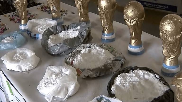 Cocaine Seized in World Cup Trophy Replicas Found in Argentina
