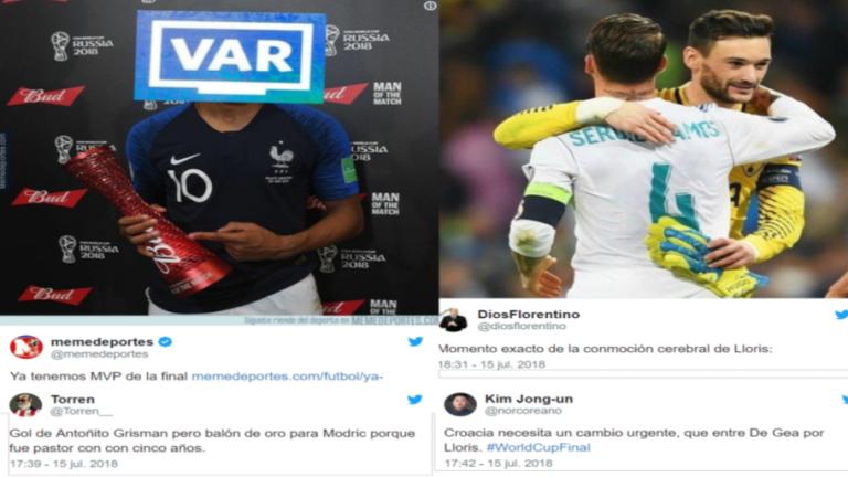 Los mejores 'tweets' de la final del Mundial: fiesta de goles, polémica del VAR, Lloris y más