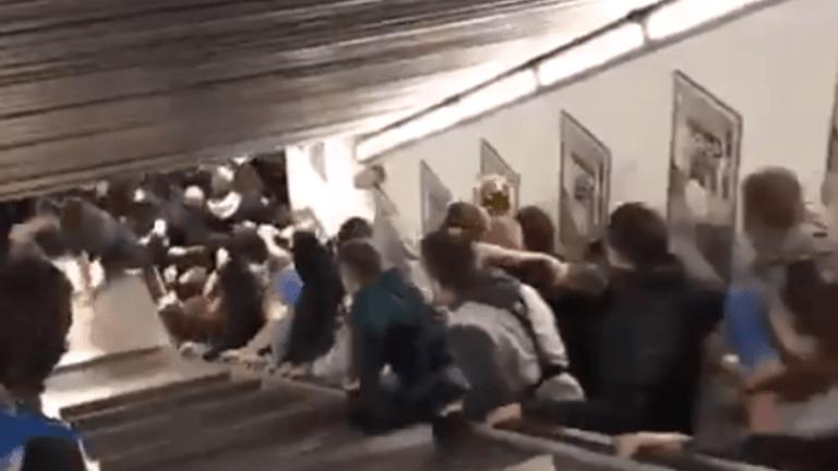 VÍDEO | El accidente de los aficionados del CSKA de camino al estadio de la Roma