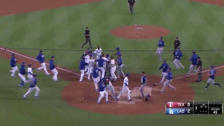 Watch: Dodgers, Rangers Brawl After Matt Kemp Runs Over Robinson Chirinos
