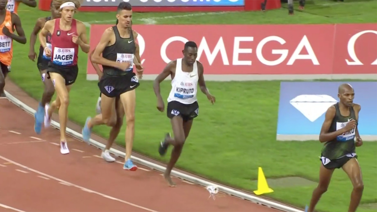 Watch: Kenyan Runner Wins Steeplechase After Running With One Shoe