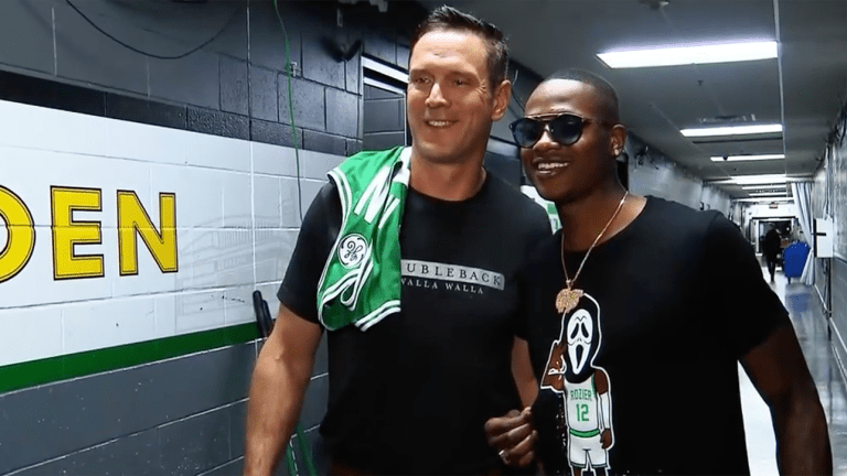 Watch: Drew Bledsoe, Terry Rozier Finally Meet After Quarterback Brought Into NBA Feud