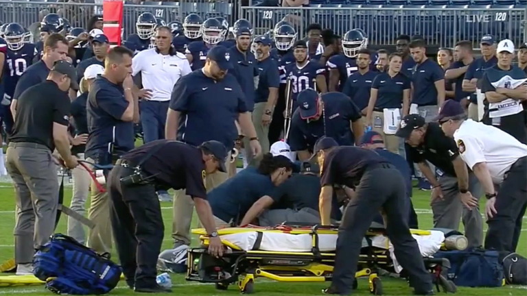 UCF Defensive Back Aaron Robinson Carted Off Field After Opening Kickoff