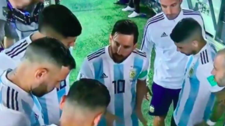 La  charla motivadora de Messi durante el descanso contra Nigeria