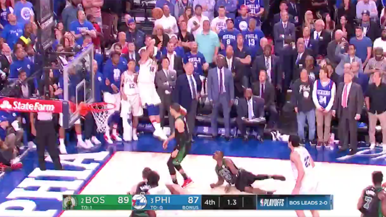 Watch: 76ers' Marco Belinelli Nails Buzzer Beater to Take Game 3 to Overtime Before Loss