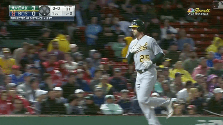 Watch: Stephen Piscotty Homers in First At-Bat Since Returning From Bereavement List