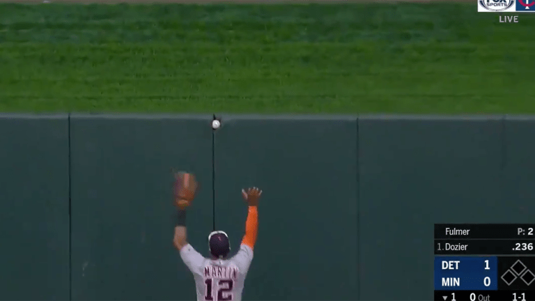 Watch: Brian Dozier Misses Home Run as Ball Gets Wedged in Outfield Wall