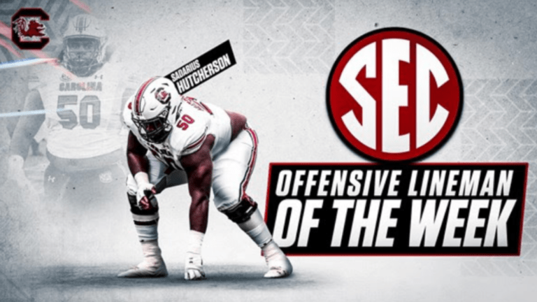 Hutcherson Named SEC Offensive Lineman Of The Week