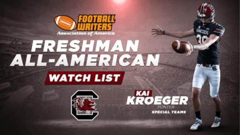 Kai Kroeger Named to Freshman All-American Watch List