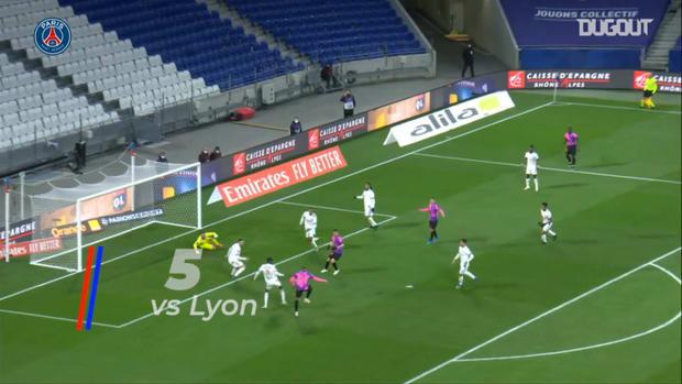 Mbappé's best five Ligue 1 goals this season 20-21