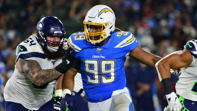 Chargers-Jaguars Inactives: First-Round Pick Jerry Tillery Left ...
