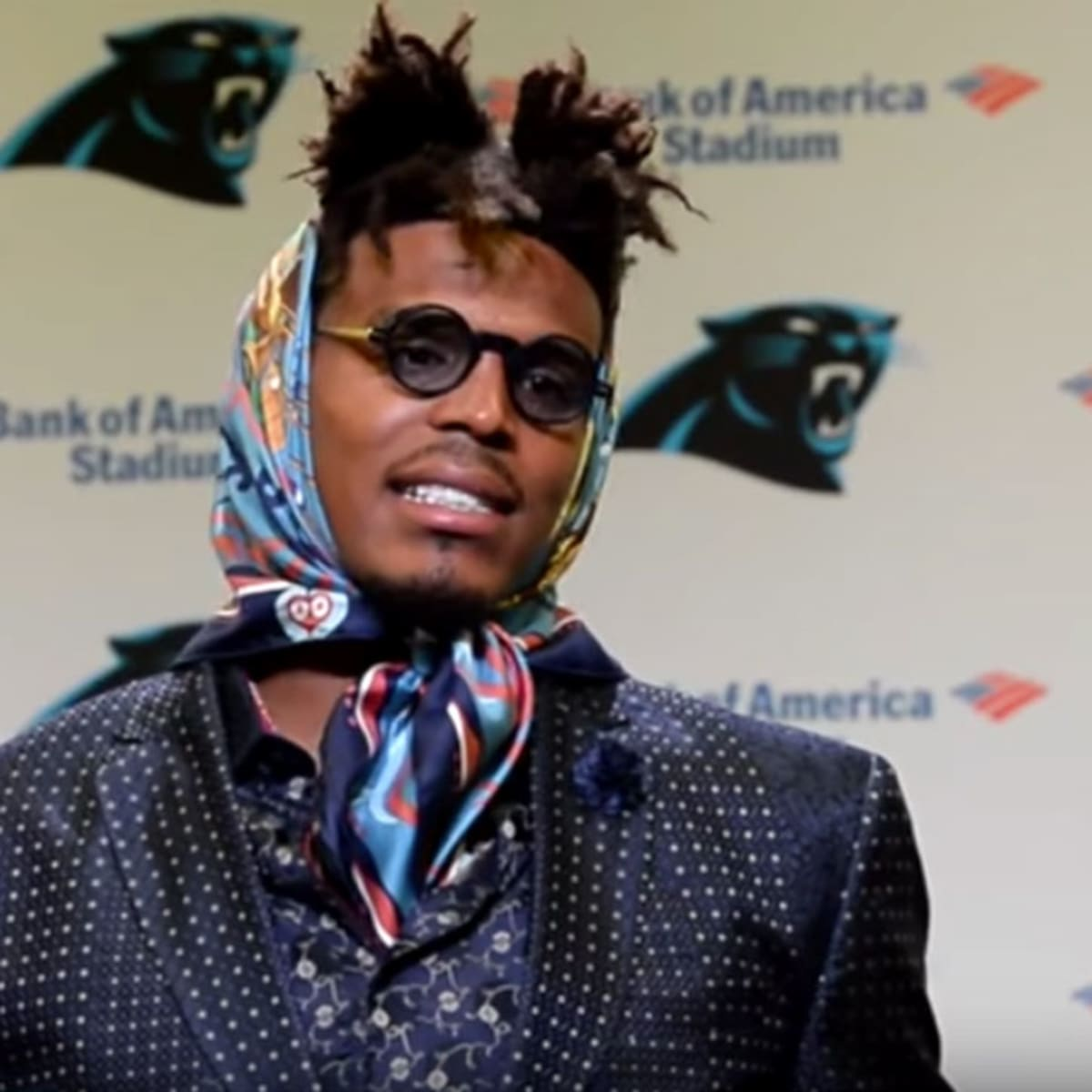 Cam Newton Postgame Outfit Generates Hilarious Twitter Reaction Sports Illustrated