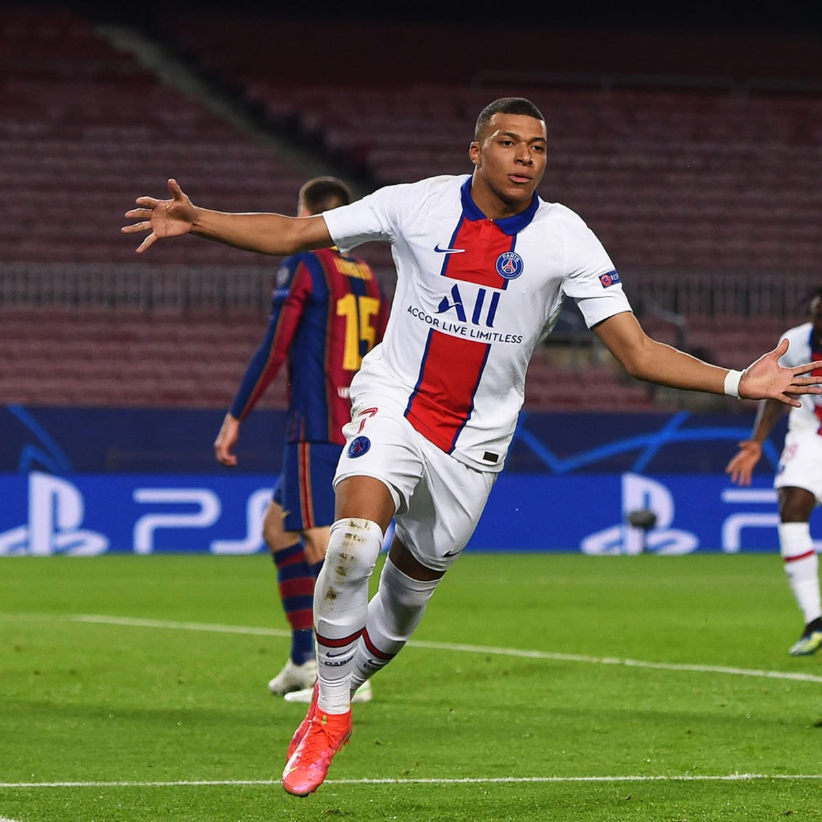 Kylian Mbappe Psg Put Messi Barcelona On Brink Of Ucl Exit Sports Illustrated
