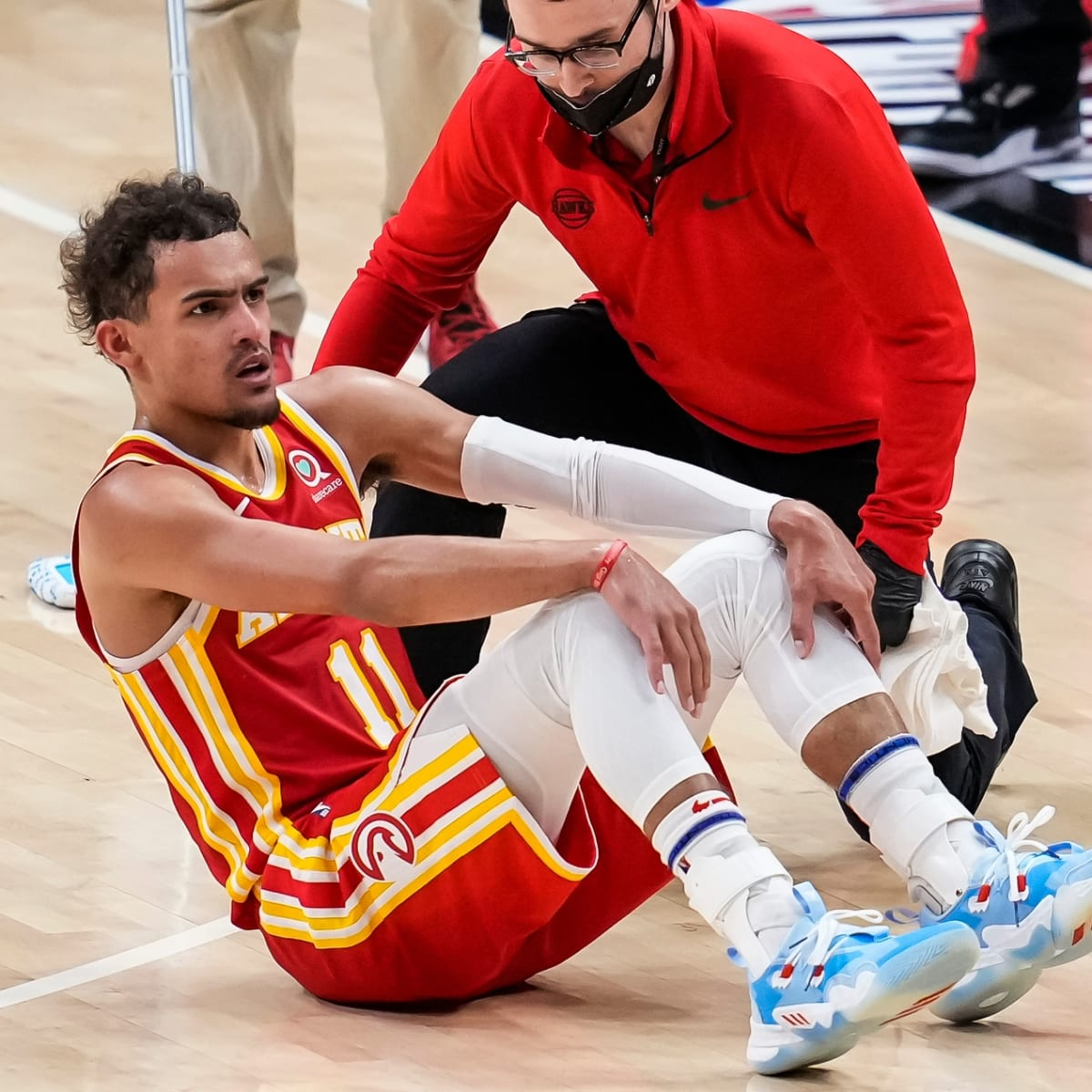 Trae Young injury: Hawks star's status for Game 4 uncertain after sprained  ankle - Sports Illustrated