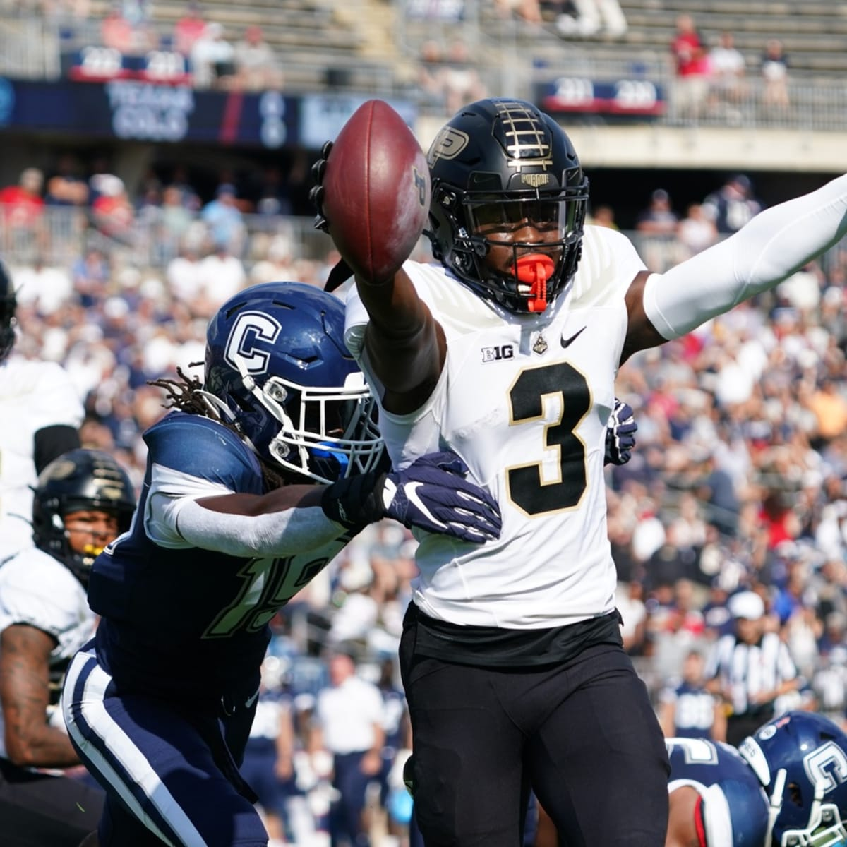 David Bell, Purdue Offense Dominates First Half in 49-0 Victory Over UConn  on the Road - Sports Illustrated Purdue Boilermakers News, Analysis and More
