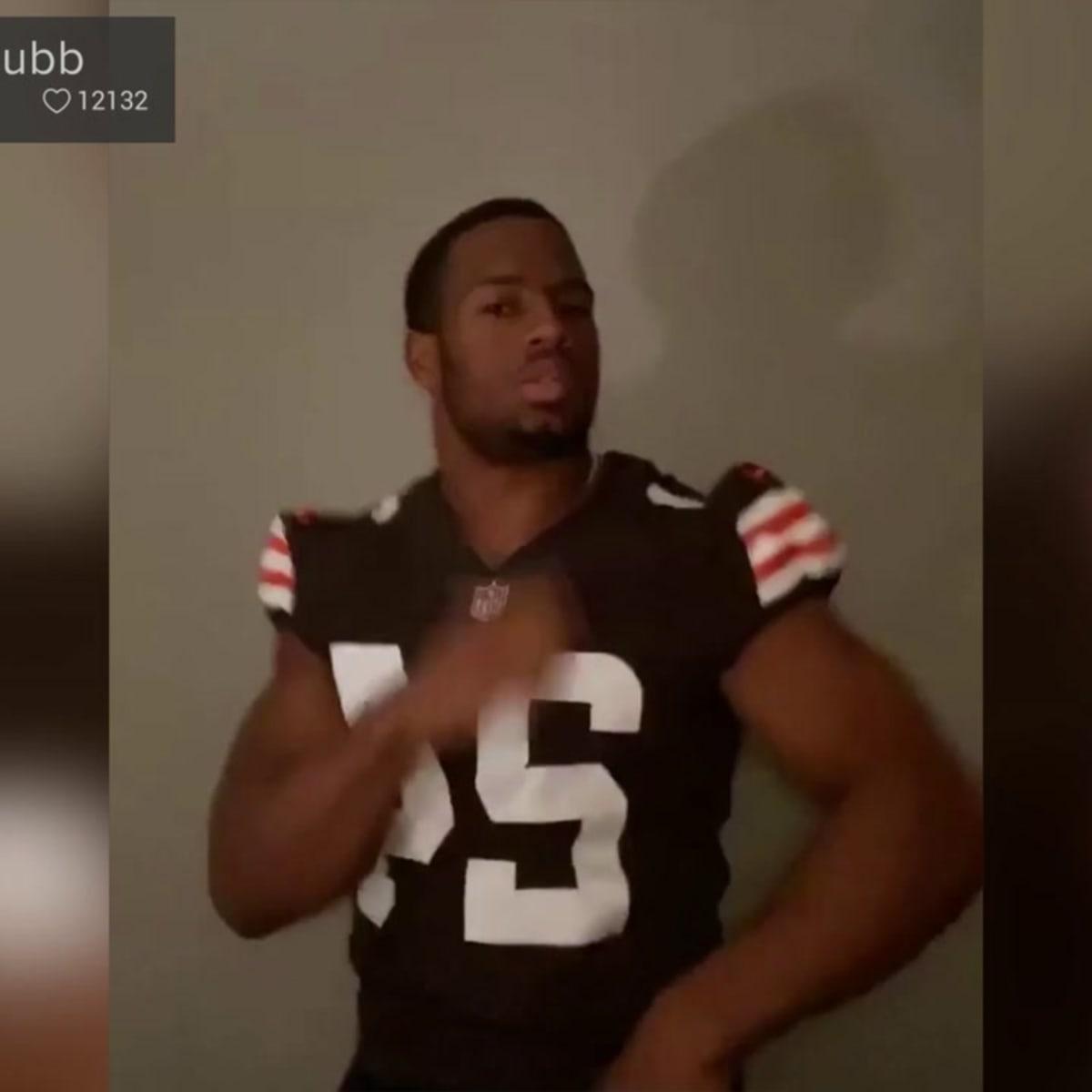 nick chubb's jersey