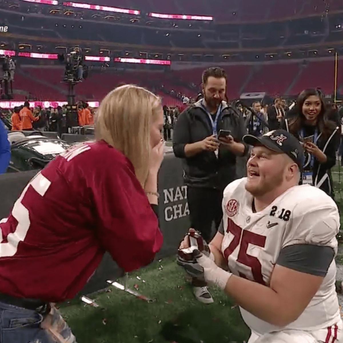 Bradley Bozeman: Alabama football OL proposes (video) - Sports ...