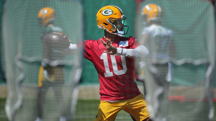 Made it (3): Aaron Rodgers, Jordan Love, Kurt BenkertDidn't make it (2): Jake Dolegala, Blake BortlesWhy: I've thought all along Rodgers would come back. It's more of a hunch than anything but, one, Rodgers cares about his legacy and, two, he cares about Davante Adams, who is entering his final season under contract. If Rodgers returns, there's little use for Bortles on the roster. If Rodgers doesn't return, Bortles would bring a veteran set of eyes for Love. Either way, Benkert showed enough during limited offseason reps to merit a longer look.