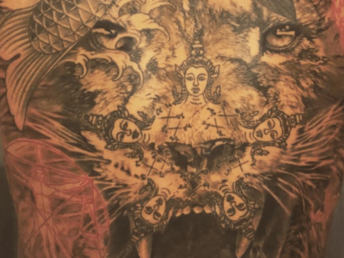 Zlatan Back Tattoo