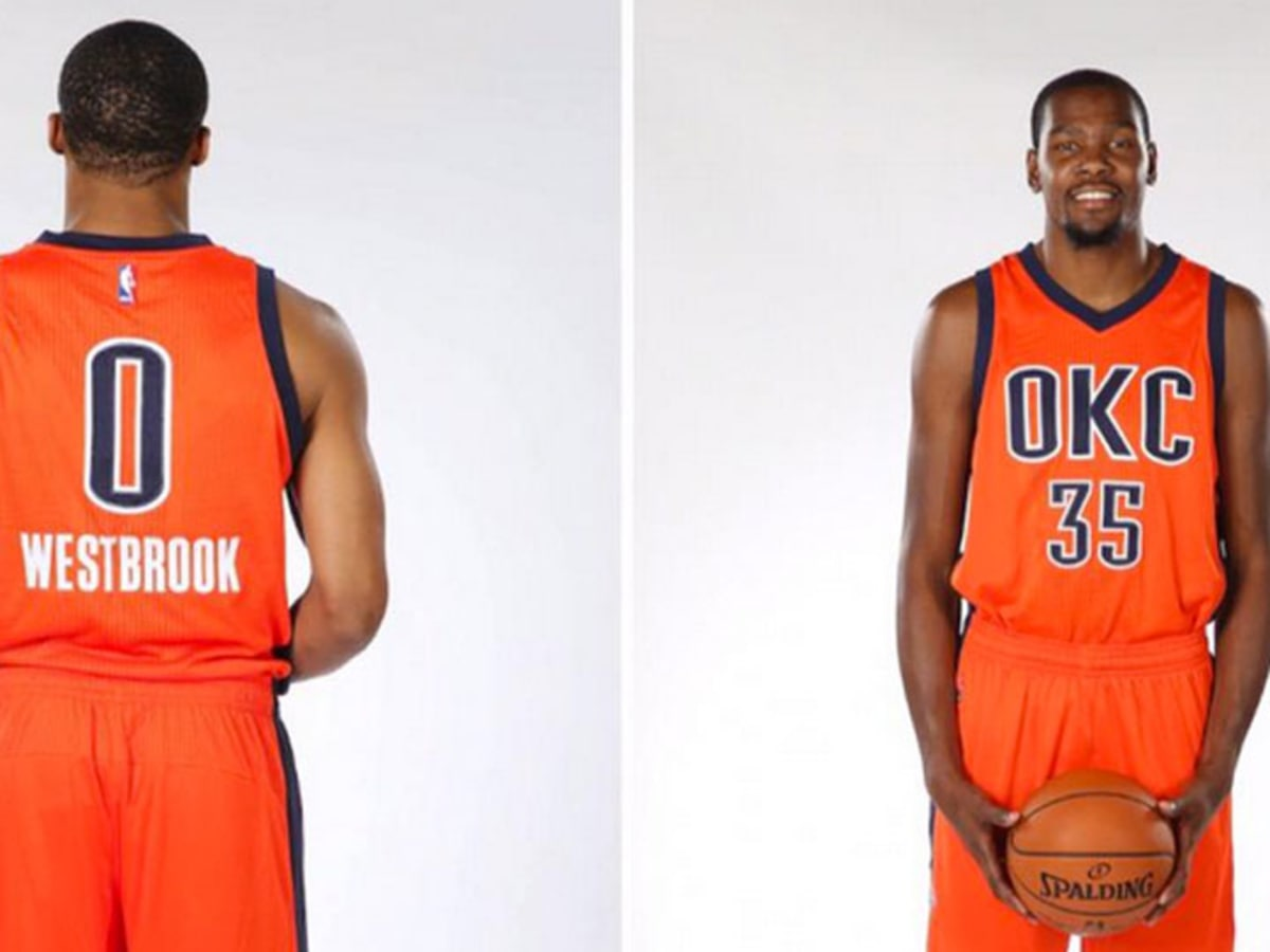 Oklahoma City Thunder unveil orange alternate jerseys - Sports ...