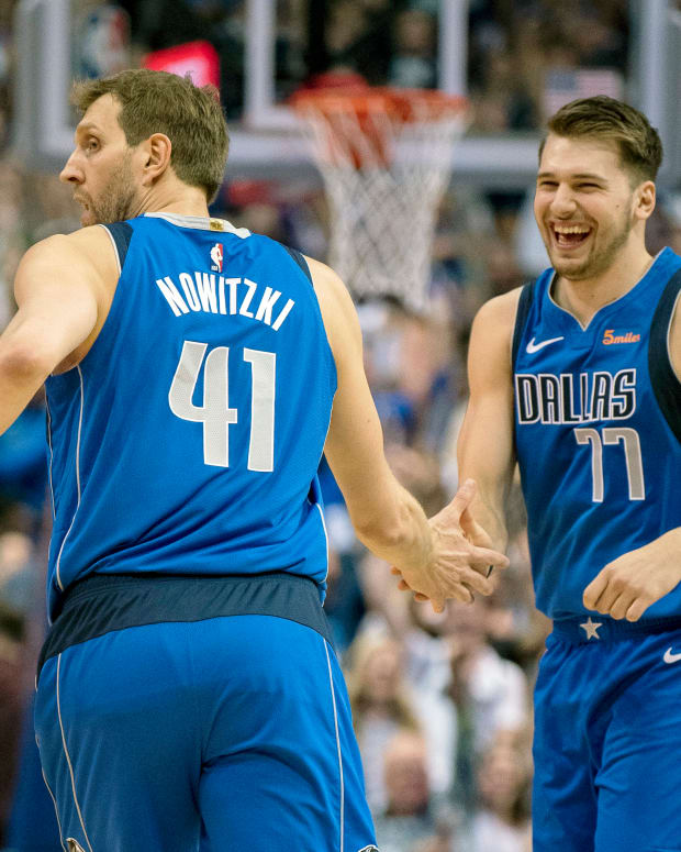 Dirk Nowitzki and Luka Doncic