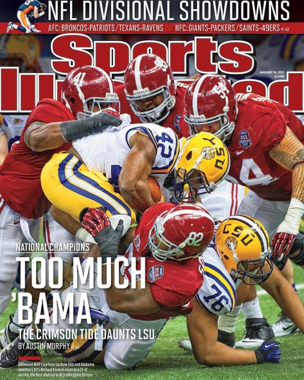 Alabama vs. LSU Sports Illustrated cover, Jan. 16, 2012, Too Much Bama