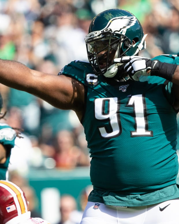Eagles defensive tackle Fletcher Cox is in the spotlight for an incident that happened at his New Jersey home