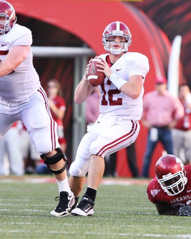 Alabama quarterback Greg McElroy