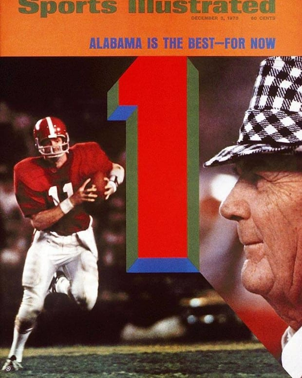 Sports Illustrated cover Dec. 3, 1973, Bear Bryant; Alabama is the best, for now