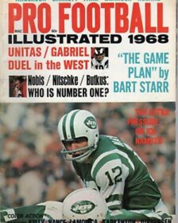 Joe Namath cover, Pro Football Illustrated 1968